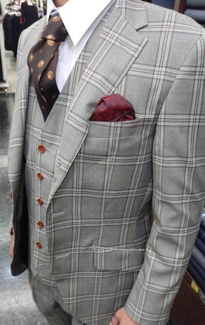 成人式用チェックオーダースーツ