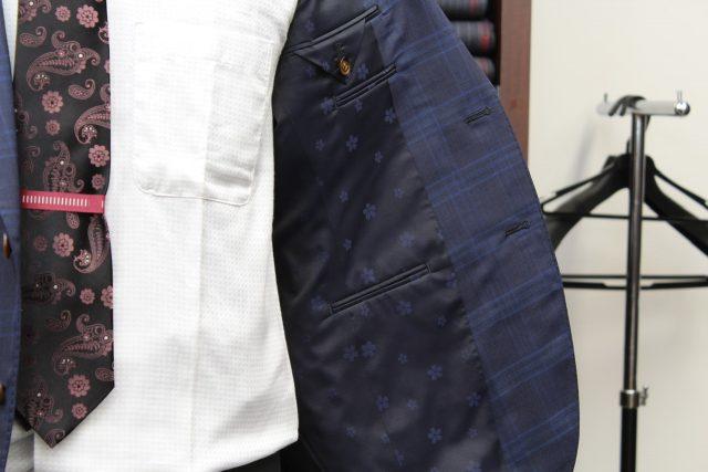 ブルーチェックオーダースーツ