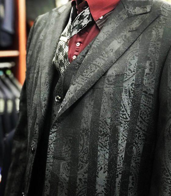 シルクウールペイズリースーツ